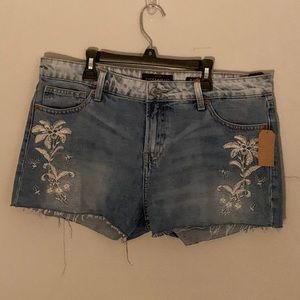 Lucky Brand Embroidered Cut Offs NWT
